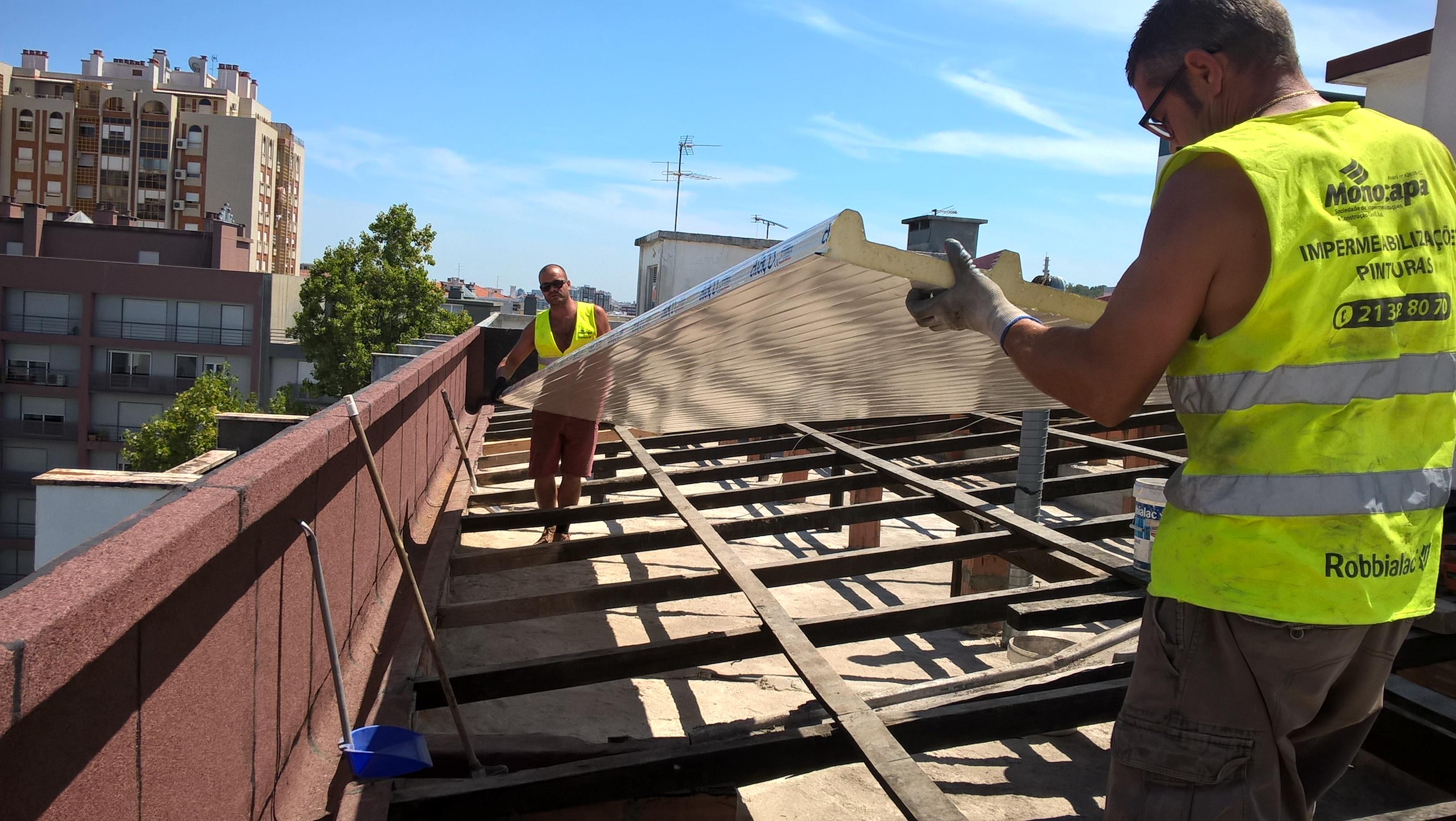 Serviços – Coberturas/telhados